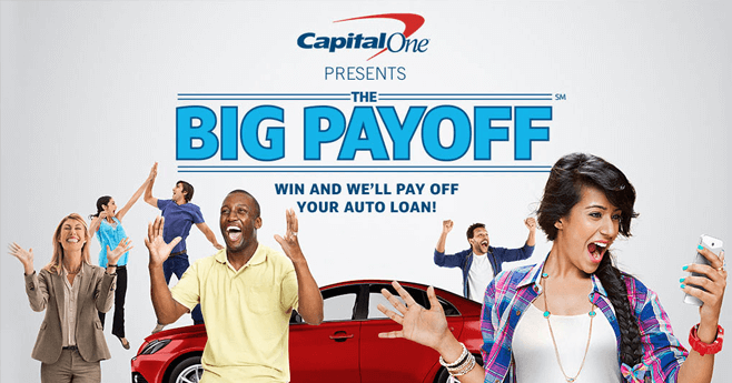 CapitalOneBigPayoff.com - Capital One Auto Finance Big Payoff Sweepstakes 2016