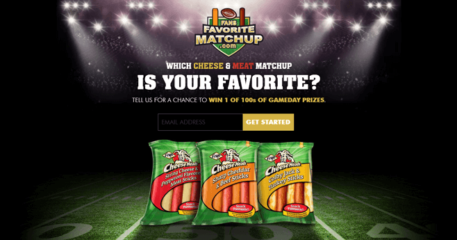 FansFavoriteMatchup.com - Frigo Cheese Heads Fans Favorite Matchup Sweepstakes