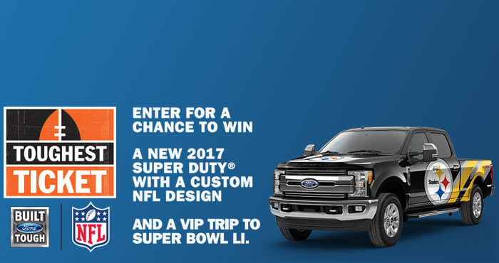 NFL.com/ToughestTicket - Ford Toughest Ticket Sweepstakes 2016