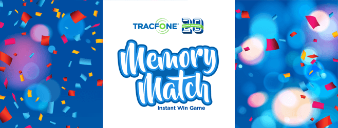 Tracfone 20th Anniversary Memory Match Game 2016