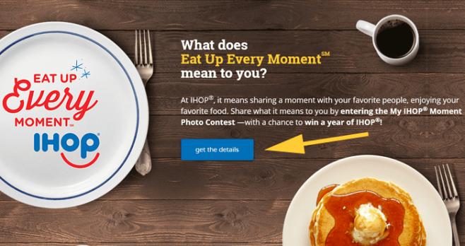 IHOP Favorite Moment Photo Contest 2016 (IHOPMoment.com)