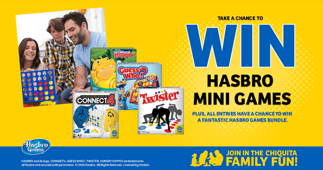 Chiquita Family Fun Sweepstakes & Instant Win Game (Play.Chiquita.com)