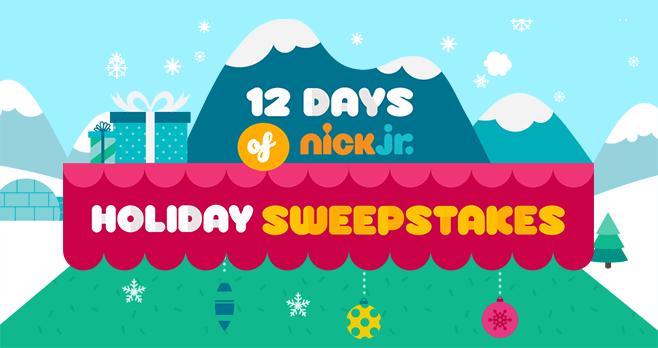 12 Days of Nick Jr Holiday Sweepstakes (12DaysOfNickJr.com)