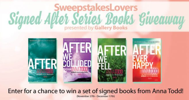 SweepstakesLovers.com Signed After Series Books Giveaway presented by Gallery Books