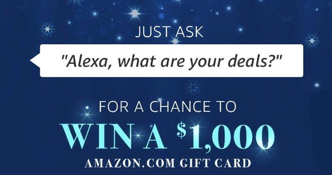 Amazon Alexa Voice Shopping Sweepstakes