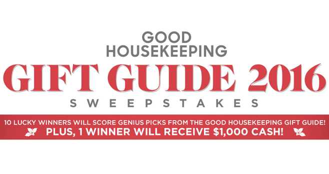 Good Housekeeping Holiday Gift Guide 2016 Sweepstakes (GoodHousekeeping.com/Gifted2016)