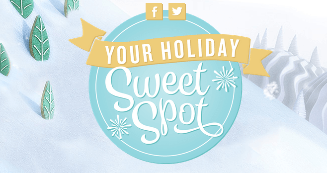 Food Network Your Holiday Sweet Spot Sweepstakes (YourHolidaySweetSpot.com)