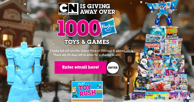 Cartoon Network Holiday Sweepstakes 2016 (CartoonNetwork.com/Win)