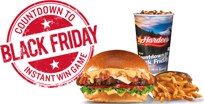 Hardee's Countdown To Black Friday Instant Win Game (HardeesBPS.com)