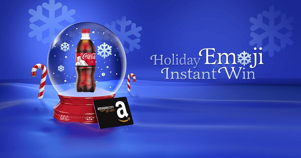 Coca-Cola & HMSHost Holiday Emoji Instant Win Game (CokePlayToWin.com/HMSHostHoliday)