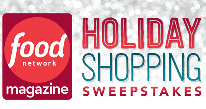 Food Network Holiday Shopping Sweepstakes (FoodNetwork.com/HolidayShopping)