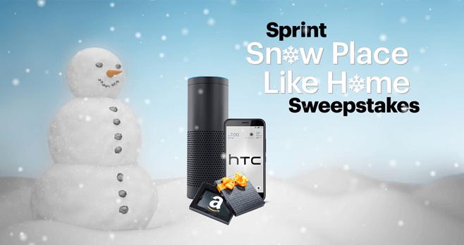 Sprint Snow Place Like Home Sweepstakes (Sprint.com/SnowSweepstakes)