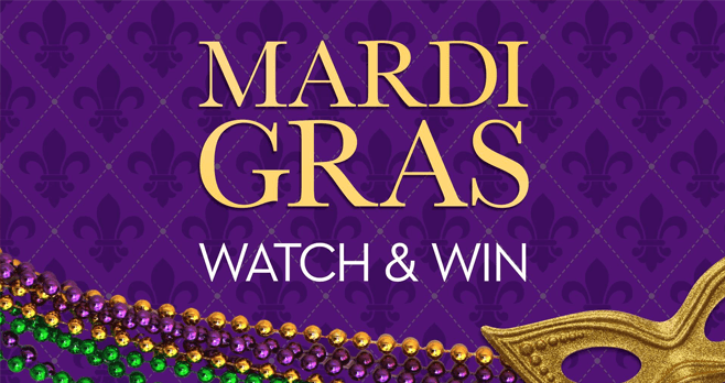 Harry Connick JR Show Mardi Gras Word of the Day Sweepstakes (HarryTV.com/Mardi-Gras)