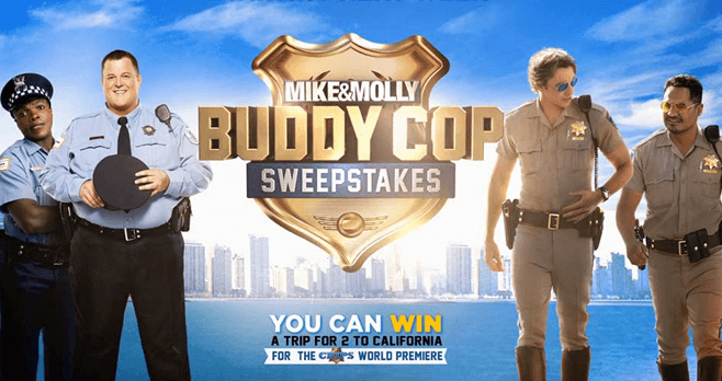 mike and mike sweepstakes mike and molly buddy cop sweepstakes 2884