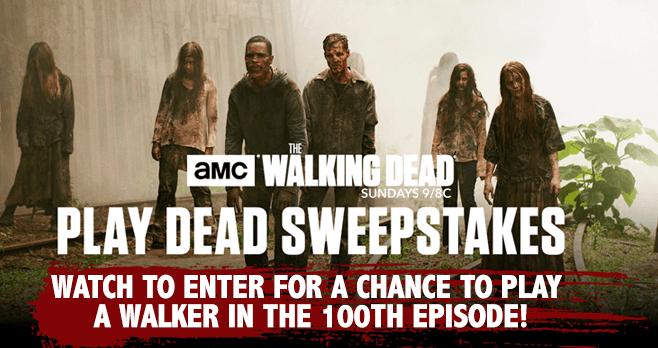 walking dead amc sweepstakes play dead as a walker on the walking dead sweepstakeslovers 5587