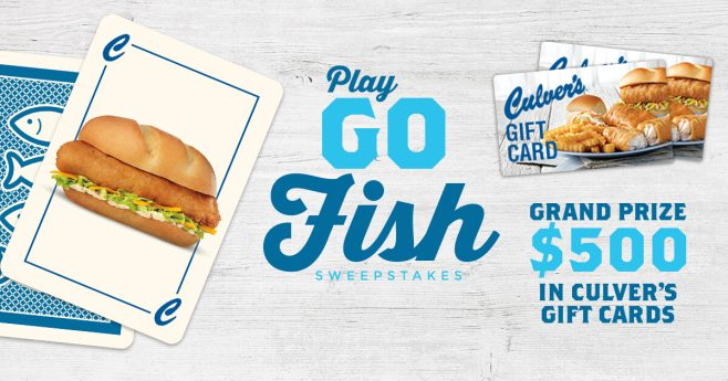 Culver's Go Fish Sweepstakes (Culvers.com/GoFish)