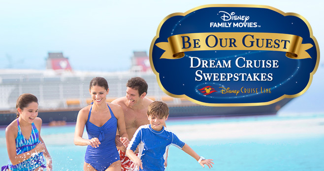 Disney Family Movies Be Our Guest Dream Cruise Sweepstakes
