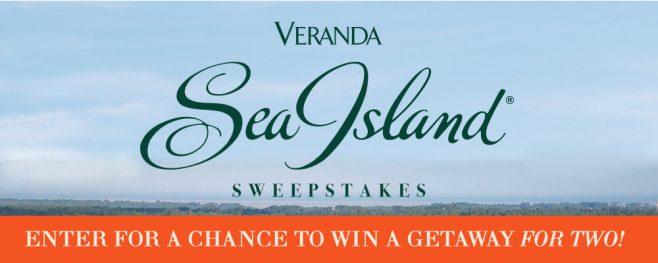 Veranda Sea Island Getaway Sweepstakes (SeaIsland.Veranda.com)