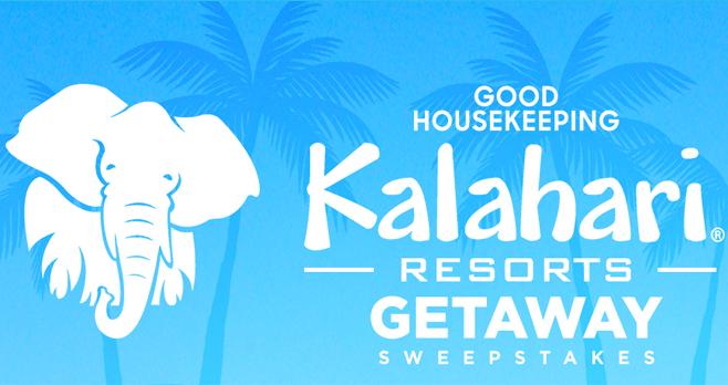 Good Housekeeping Kalahari Resorts Getaway Sweepstakes (GoodHousekeeping.com/KalahariResorts)