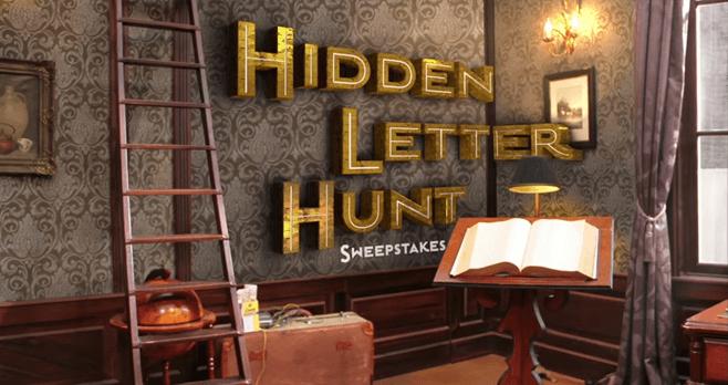 Hunter Street Hidden Letter Hunt Nickelodeon Sweepstakes 2017 (Nick.com/Hunt)