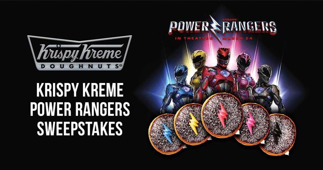 2017 Krispy Kreme Power Rangers Sweepstakes (KrispyKreme.com/PowerRangersSweepstakes)