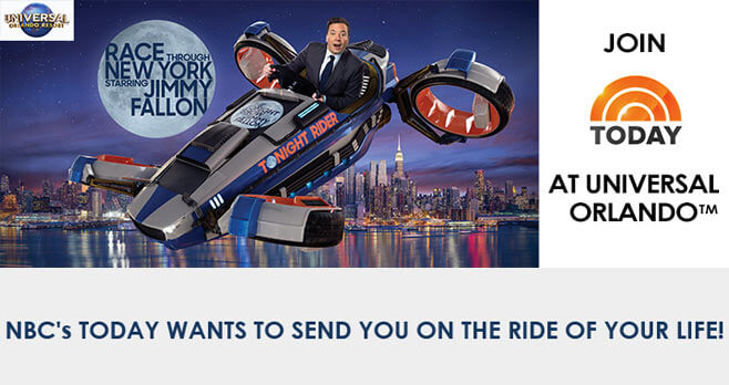 today show universal studios sweepstakes today show ride of your life sweepstakes 6148