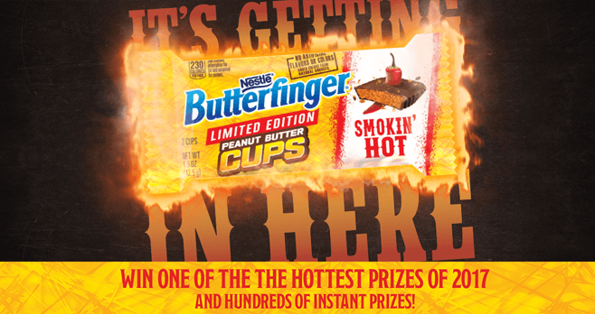 Butterfinger Smokin' Hot Sweepstakes (Butterfinger.com/SmokinHot)