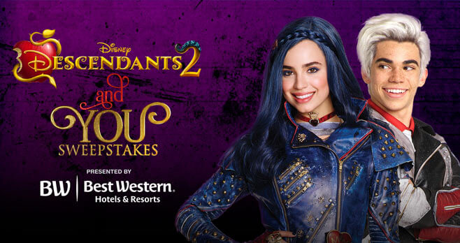 Disney Channel Descendants 2 And You Sweepstakes (Disney.com/You)
