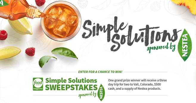 Food Network Simple Solutions Sweepstakes