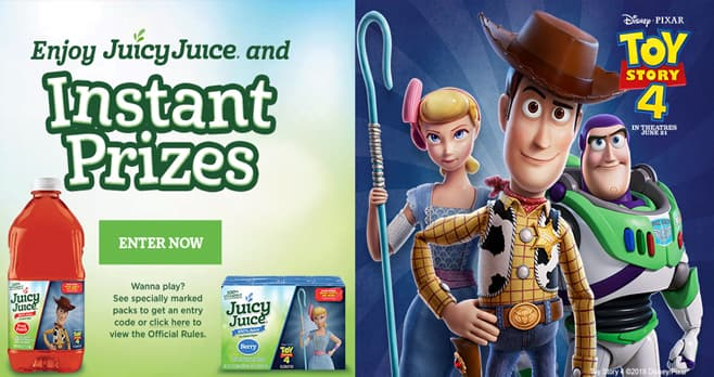 Juicy Juice Toy Story 4 Instant Win Game (JuicyJuiceGame.com)