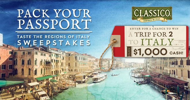 Food Network Pack Your Passport Sweepstakes