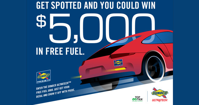 Sunoco Free Fuel 5000 Sweepstakes 2017