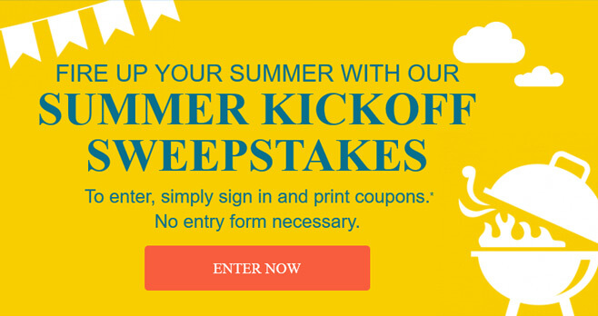 Coupons.com Summer Kickoff Sweepstakes
