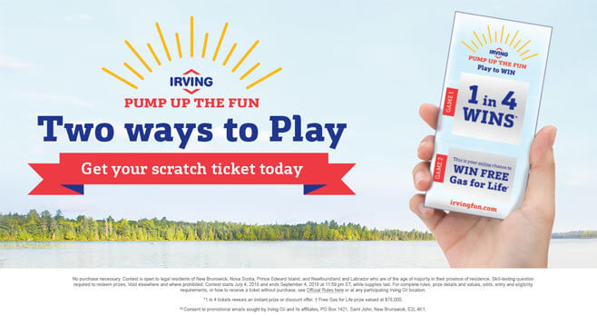 Irving Pump Up The Fun Giveaway 2018
