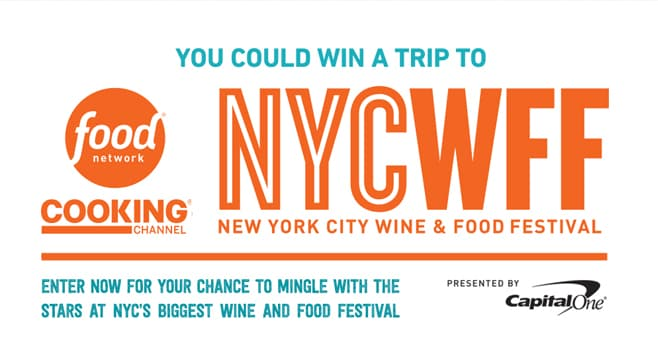 Food Network New York City Wine & Food Festival Sweepstakes