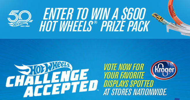 Hot Wheels Kroger Challenge Accepted Sweepstakes