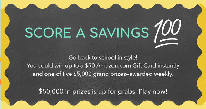 RetailMeNot Score A Savings 100 Sweepstakes