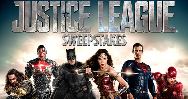 Spirit Halloween Justice League Sweepstakes