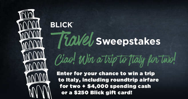 Dick Blick Travel Sweepstakes