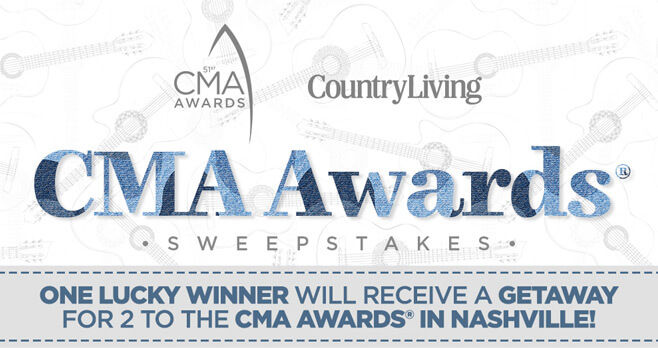 Country Living CMA Awards 2017 Sweepstakes