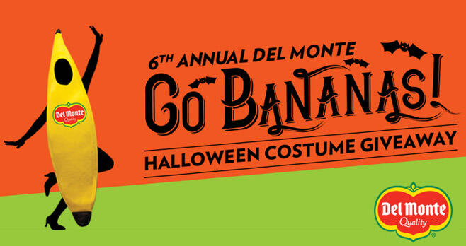 Del Monte Banana Halloween Costume Giveaway