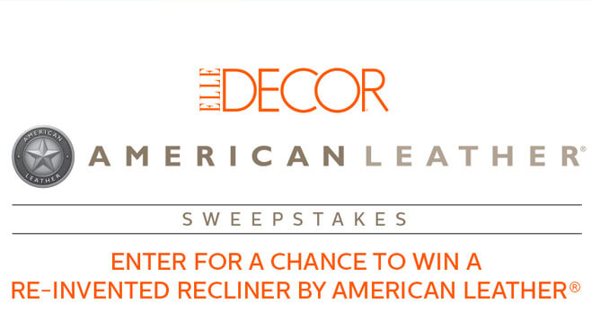 ELLE DECOR American Leather Sweepstakes