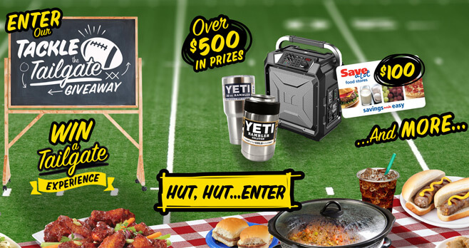Save-A-Lot Tackle The Tailgate Giveaway