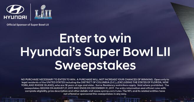 Hyundai's Super Bowl LII Sweepstakes