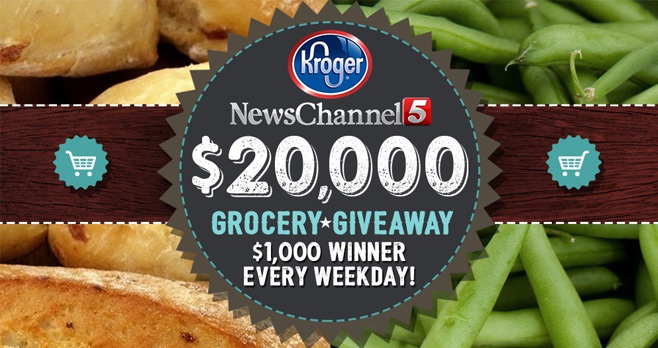 News Channel 5 and Kroger $20,000 Grocery Giveaway 2017