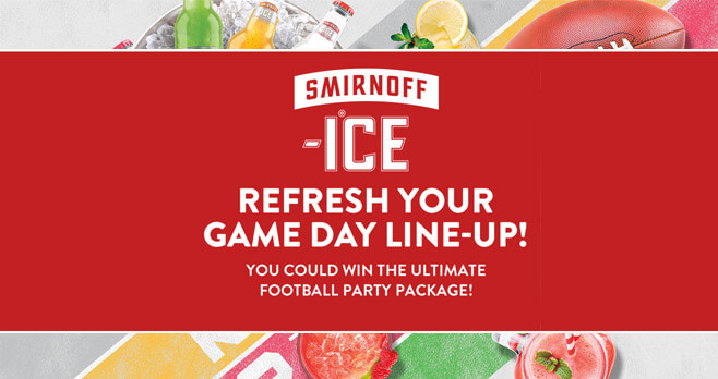 Smirnoff Ice Game Day Sweepstakes 2017