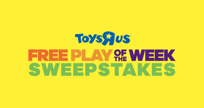 Toys R Us Free Play Of the Week Sweepstakes