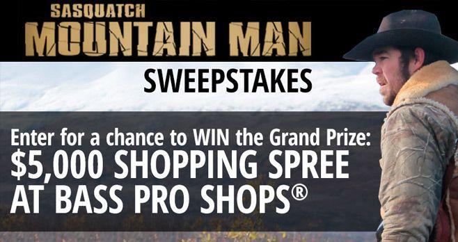 Bass Pro Shops Mountain Man Sweepstakes 2017