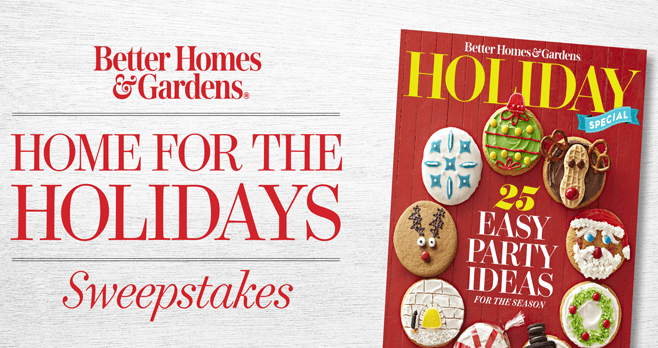 BHG Home for the Holidays Sweepstakes 2017
