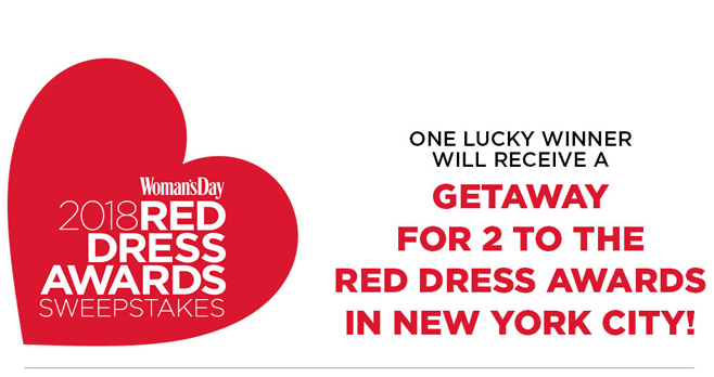 Woman's Day 2018 Red Dress Awards Sweepstakes